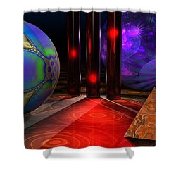 Merlin's Playground Shower Curtain by Lyle Hatch