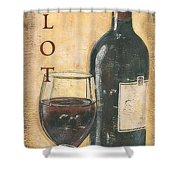 Merlot Wine And Grapes Shower Curtain
