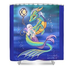 Mermaid And Sea Dragon Shower Curtain