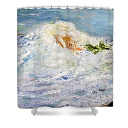 Mermaid At Play Shower Curtain