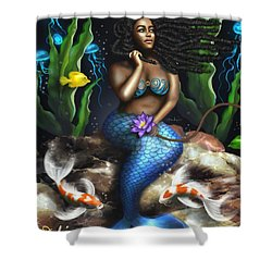 Yemaya Mermaid  Shower Curtain