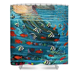 Mermaid In Paradise Shower Curtain