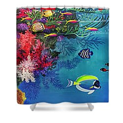 Mermaid In Paradise Complete Underwater Descent Shower Curtain