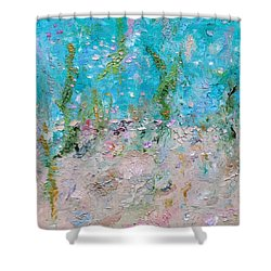 Shower Curtain featuring the painting Mermaid Meditation by Judith Rhue