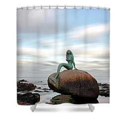 Mermaid Of The North Shower Curtain by Grant Glendinning