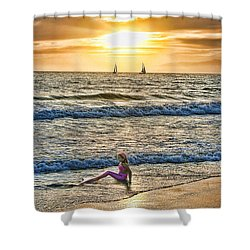 Mermaid Of Venice Shower Curtain