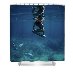 Mermaid Pose Shower Curtain