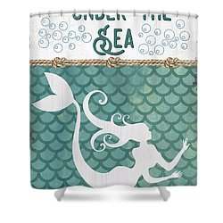 Mermaid Waves 2 Shower Curtain
