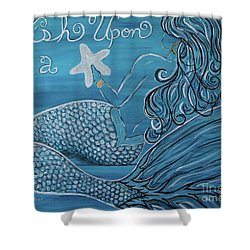 Mermaid- Wish Upon A Starfish Shower Curtain by Megan Cohen
