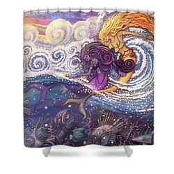 Mermaids In The Surf Shower Curtain