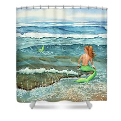 Mermomma Shower Curtain