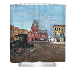 Old New England Town Shower Curtain