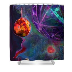 Merry And Bright Holidays Shower Curtain