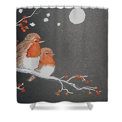 Merry Christmas Shower Curtain by Carole Robins