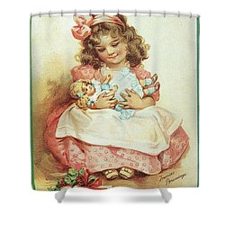 Merry Christmas For My Dolly Shower Curtain
