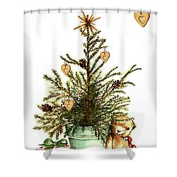 Shower Curtain featuring the painting Merry Christmas by Heidi Kriel