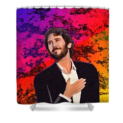 Merry Christmas Josh Groban Shower Curtain by Angela A Stanton