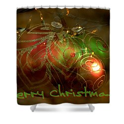 Shower Curtain featuring the photograph Merry Christmas by Lorenzo Cassina
