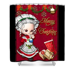 Merry Christmas Shower Curtain by Paula Ayers