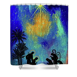 Merry Christmas To All. Shower Curtain