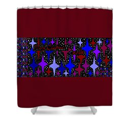 Merry Christmas To All, Starry, Starry Night Shower Curtain