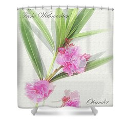 Merry Christmas Shower Curtain by Wilhelm Hufnagl