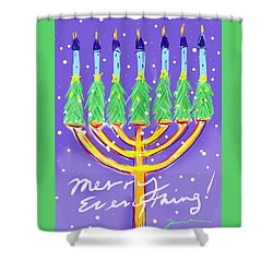 Merry Everything Shower Curtain by Jean Pacheco Ravinski