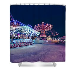 Merry Go Creepy Shower Curtain