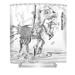 Merry-go-round Horse Shower Curtain