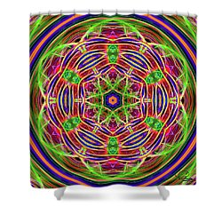 Merry-go-round Shower Curtain by Ludwig Keck