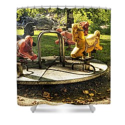 Merry-go-round Shower Curtain by Tamyra Ayles