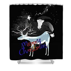 Merry Old Santa Shower Curtain