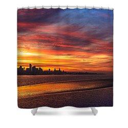 Mersey Sunrise Shower Curtain