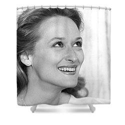 Meryl Streep (b.1949) Shower Curtain by Granger