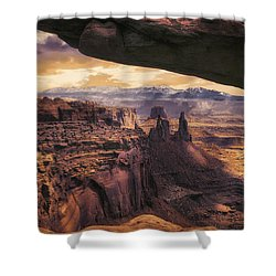 Shower Curtain featuring the photograph Mesa Arch by James Bethanis