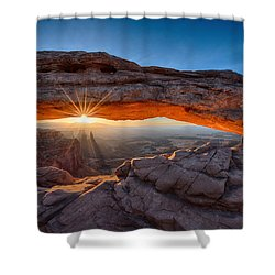 Sun Rays At Mesa Arch Utah Shower Curtain