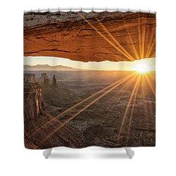 Mesa Arch Sunrise 4 - Canyonlands National Park - Moab Utah Shower Curtain