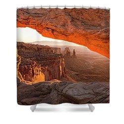 Mesa Arch Sunrise 5 - Canyonlands National Park - Moab Utah Shower Curtain