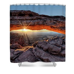 Mesa Arch Sunburst By Olena Art Shower Curtain