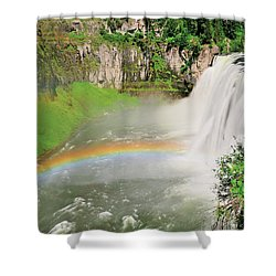 Shower Curtain featuring the photograph Mesa Falls II by Greg Norrell