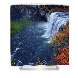 Mesa Falls In The Fall Shower Curtain