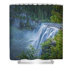 Mesa Falls - Yellowstone Shower Curtain by Dan Pearce
