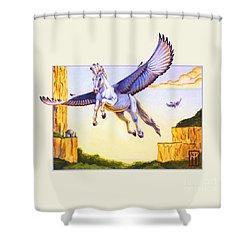 Mesa Pegasus Shower Curtain by Melissa A Benson