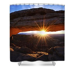 Mesa Sunrise Shower Curtain by Chad Dutson