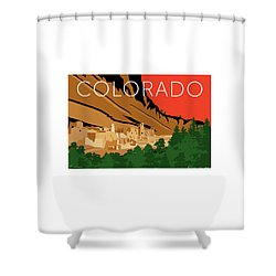 Mesa Verde Orange Shower Curtain