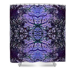 Mesmerized By Blue Shower Curtain by Joy Nichols
