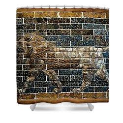 Mesopotamian Lion Shower Curtain