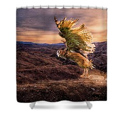 Shower Curtain featuring the digital art Messenger Of Hope by Nicole Wilde