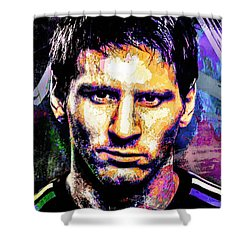 Messi Shower Curtain by Svelby Art