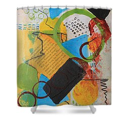 Messy Circles Of Life Shower Curtain